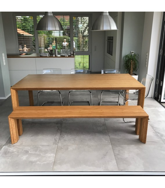 arc dining table & bench - bloooms