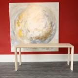 "Moderne tafel op maat,   Arc serie 40 ""Light"" Naturel"