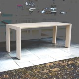 Moderne bamboe eettafel, Arc Light naturel