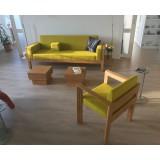 Custom made, bamboo sofa Helen