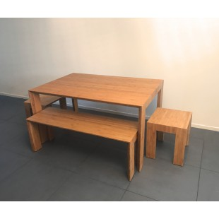 Moderne tafel op maat, Arc Light Caramel
