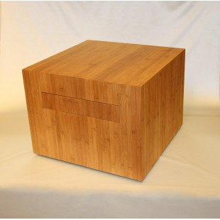bamboo drawer-block-on-wheels