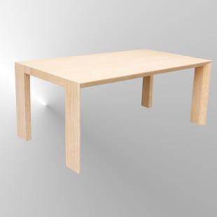 Opmaat tafel,  Arc bamboe naturel