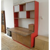 Combination cupboard and desk